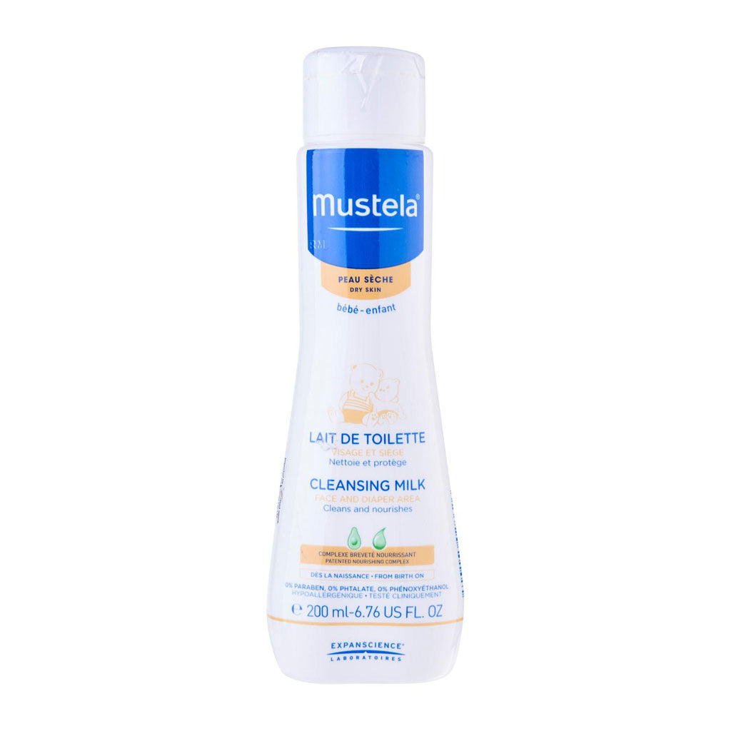 Mustela Cleansing Milk for Face & Diaper Area 200ml