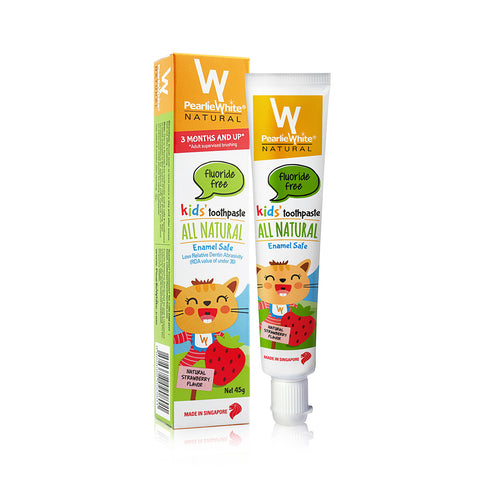 Pearlie White All Natural Enamel Safe Kids' Toothpaste