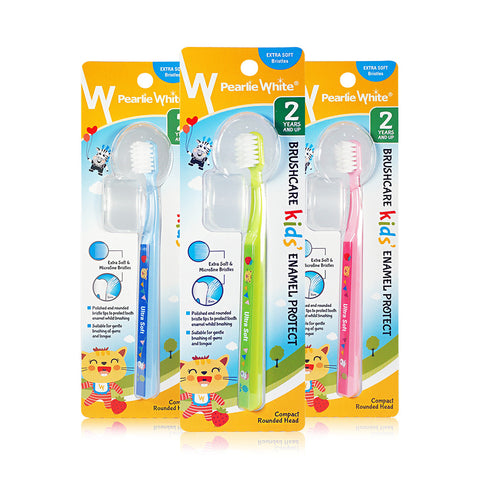Pearlie White Kids Enamel Protect Extra Soft Toothbrush Triple Pack