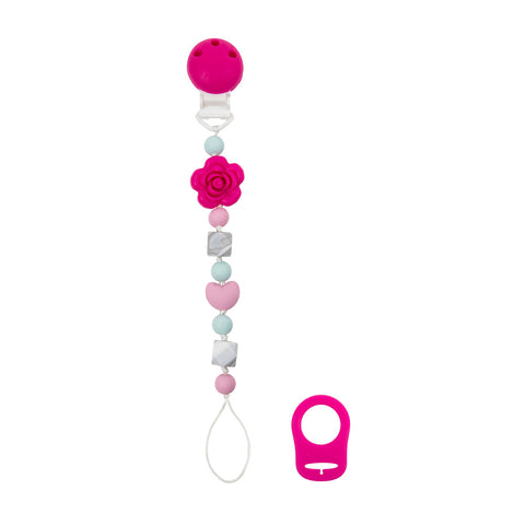 Kushies Silibeads Pacifier Clip - Flower