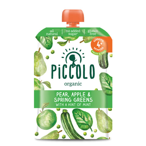 Piccolo Pear, Apple & Spring Greens with a Hint of Mint