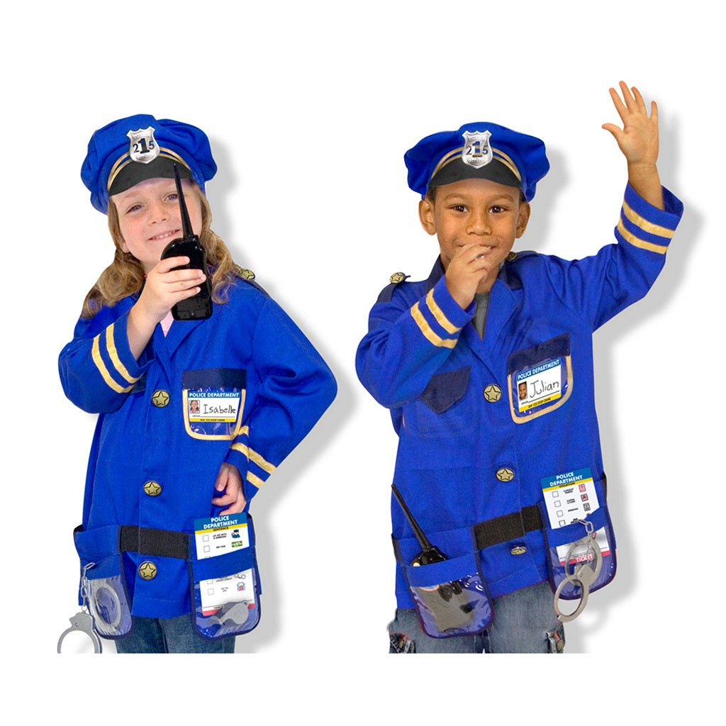 Melissa & Doug Police Officer Role Play Costume Set 3-6 years