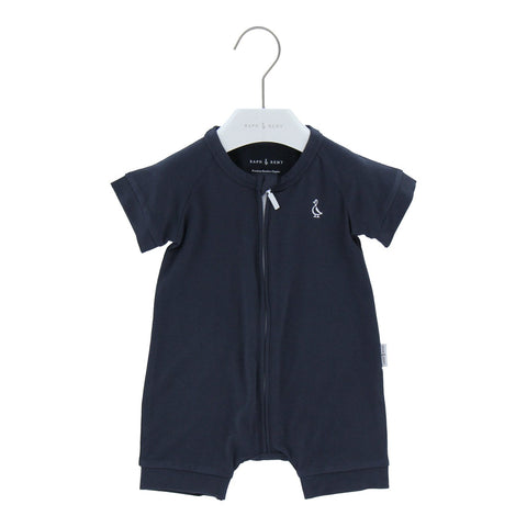 Raph&Remy Short Sleeve Premium Bamboo Zippie - Navy Blue