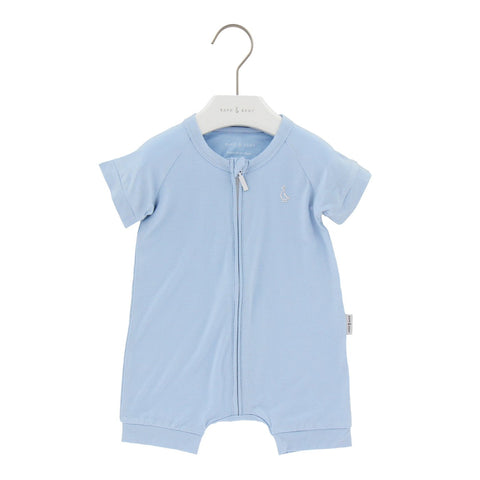 Raph&Remy Short Sleeve Premium Bamboo Zippie - Sky Blue