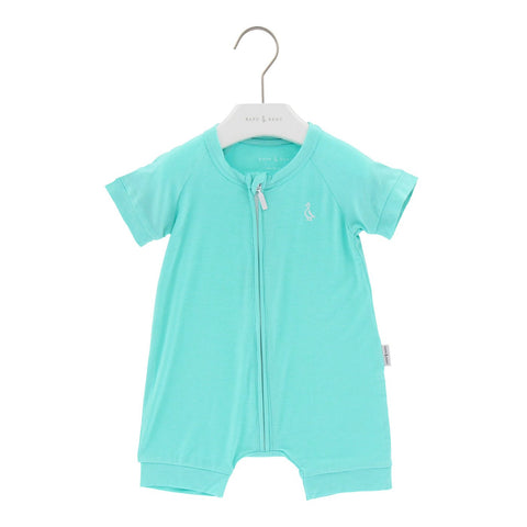Raph&Remy Short Sleeve Premium Bamboo Zippie - Turqoise Green