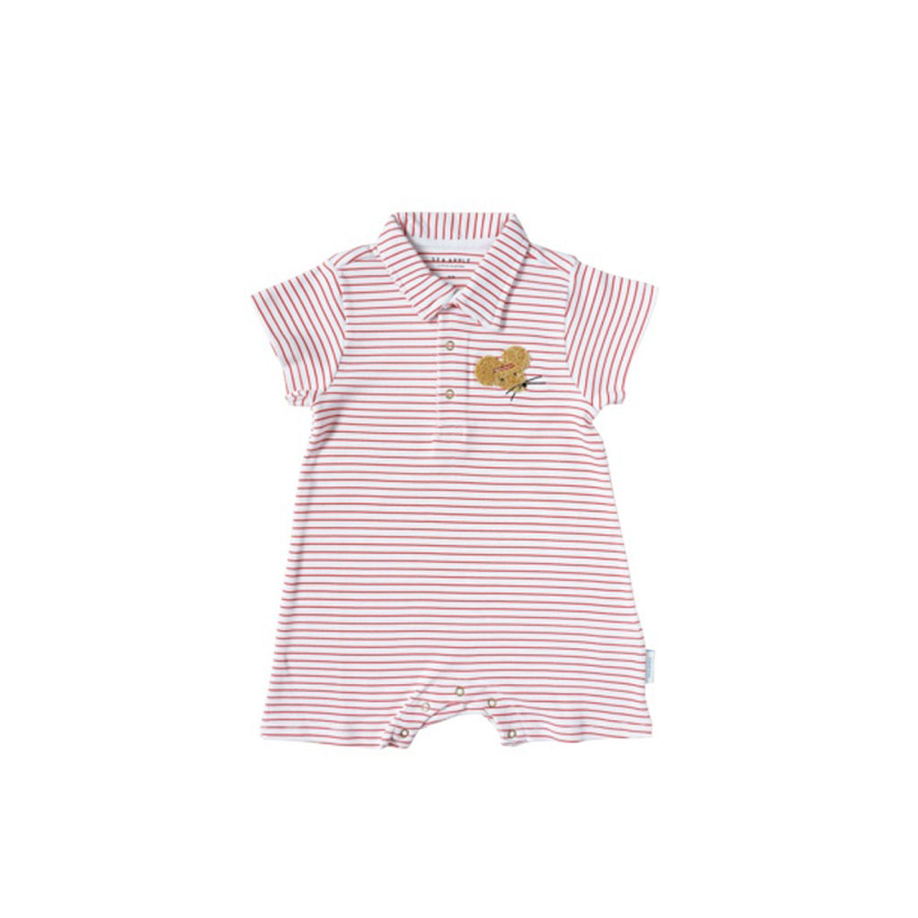Sea Apple Headband Mouse Collared Shorts Romper