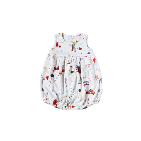 Sea Apple Mouse House Cream Bubble Playsuit