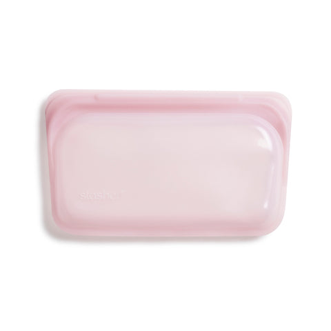 Stasher Reusable Silicone Bag, Rose Quartz, Snack Bag Size Small (290ml)