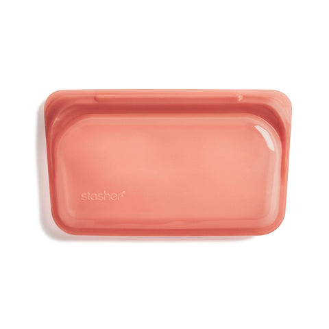 Stasher Reusable Silicone Bag, Terracotta, Snack Bag Size Small (290ml)