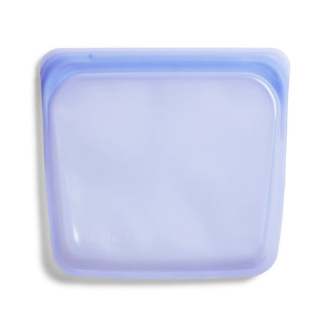 Stasher Reusable Silicone Bag, Amethyst, Sandwich Bag Size Medium (450 ml)
