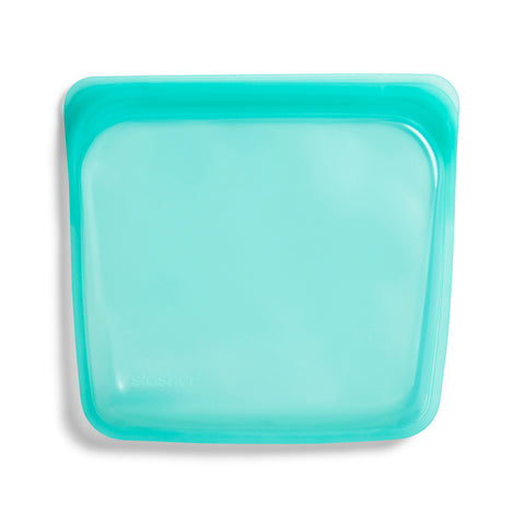 Stasher Reusable Silicone Bag, Aqua, Sandwich Bag Size Medium (450 ml)