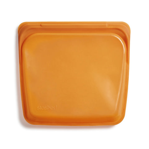 Stasher Reusable Silicone Bag, Honey, Sandwich Bag Size Medium (450 ml)