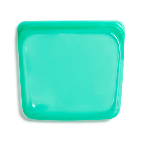 Stasher Reusable Silicone Bag, Jade, Sandwich Bag Size Medium (450 ml)