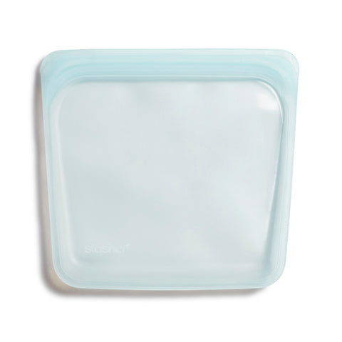 Stasher Reusable Silicone Bag, Moonstone, Sandwich Bag Size Medium (450 ml)