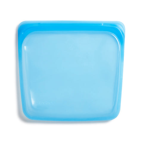 Stasher Reusable Silicone Bag, Topaz, Sandwich Bag Size Medium (450 ml)