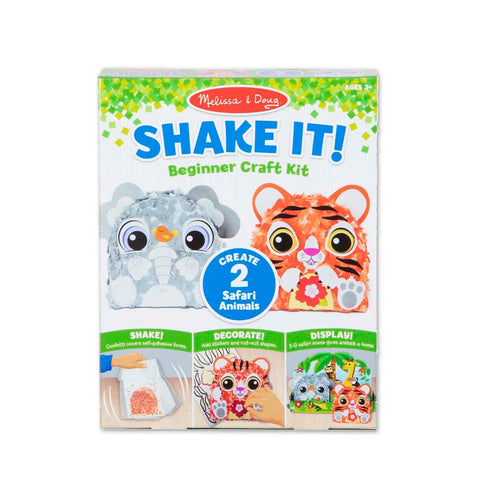 Melissa & Doug Shake It! Safari Animals Beginner Craft Kit 3 years+