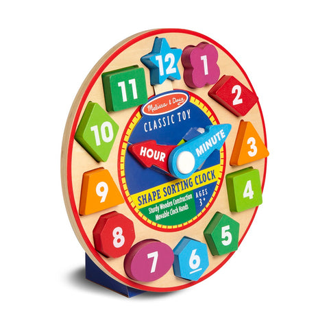 Melissa & Doug Shape Sorting Clock 3 years+
