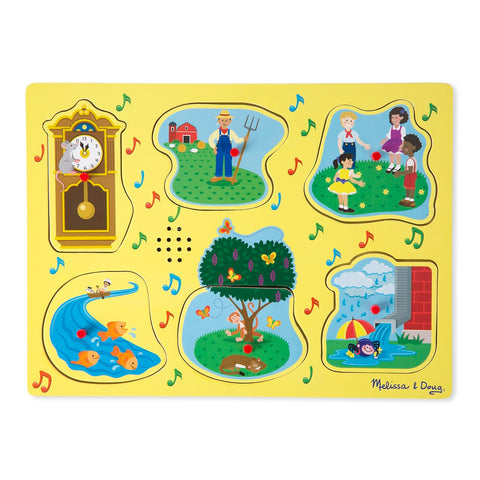 Melissa & Doug Sing-Along Nursery Rhymes Sound Puzzle - Yellow 2 years+