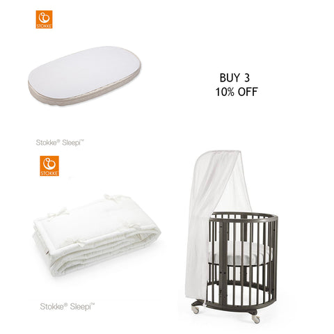 Stokke Sleepi Protection Sheet + Canopy + Bumper Promotion