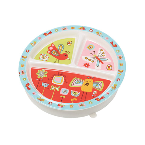 Sugarbooger Birds & Butterflies Divided Suction Plate