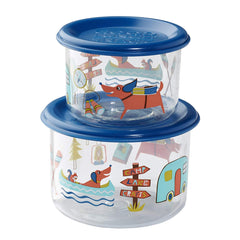 Sugarbooger Happy Camper Good Lunch Snack Container Set Of 2