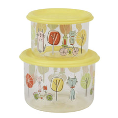 Sugarbooger Kitty Good Lunch Snack Container Set Of 2