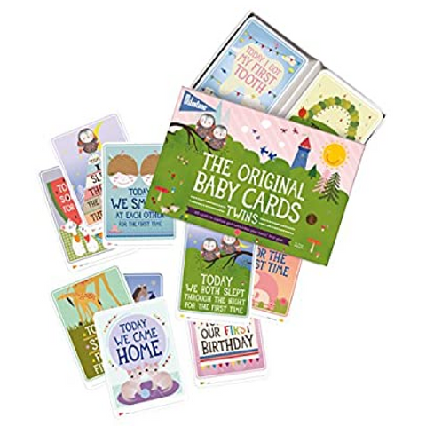 Milestone Baby Twins Cards