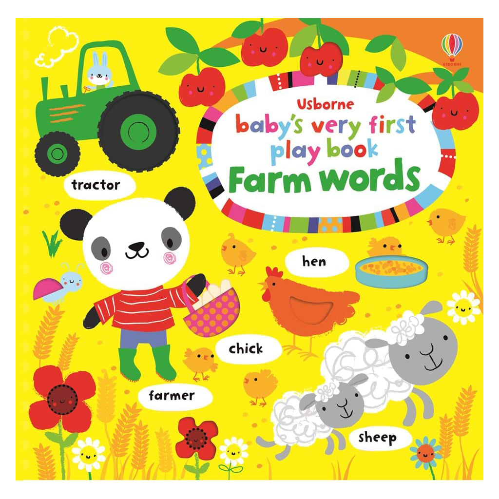 Usborne - Baby's Very First Play Book Farm Word