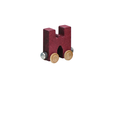 Maple Landmark Magnetic NameTrain - Letter W