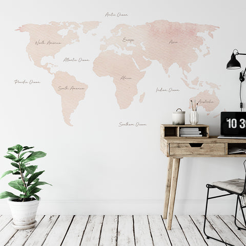 Urban Li'l World Map Wallpaper