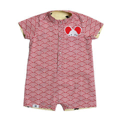 MAISON Q Xiaoxiong Reversible Baby Boy Onesie