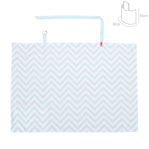 Cambrass Nursing Cover - Zig Zag Blue