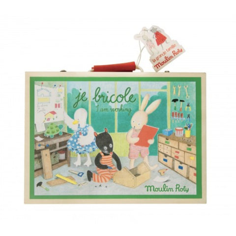 Moulin Roty Wooden Tools Suitcase