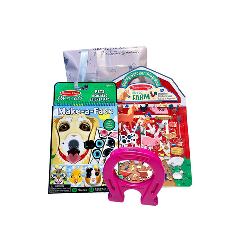 Christmas Gift Set - Toy and Sticker Set for 4 Year Old