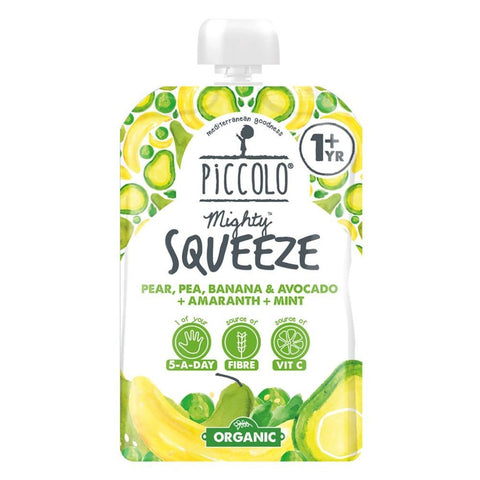 Piccolo Squeeze Pear, Pea, Banana & Avocado, Amaranth + Mint
