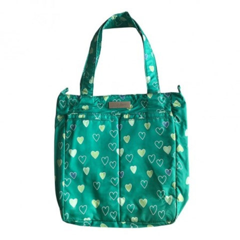 Jujube Be Light Classic Diaper Bag - Emerald Hearts