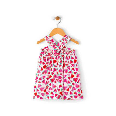 Hatley Baby Girl Criss Cross Dress - Juicy Watermelon