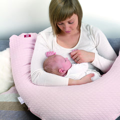 Red Castle Big Flopsy Maternity & Nursing Pillow - Fleur De Cotton Pearl Grey