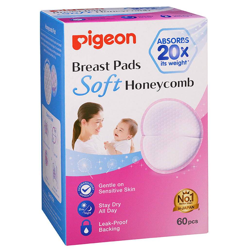 Pigeon Breastpads Honeycomb - 60 pieces