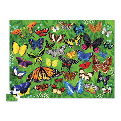 Crocodile Creek Butterflies Canister Puzzle - 100 pieces