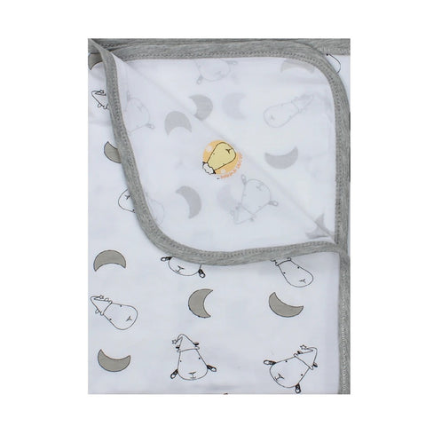 Baa Baa Sheepz Single Layer Blanket Small Moon & Sheepz - Large