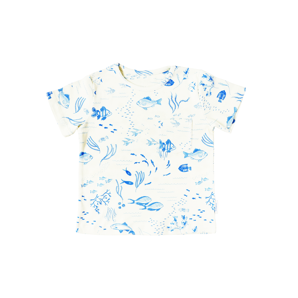Sea Apple Something Fishy Ivory T-Shirt