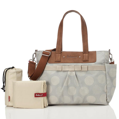 Babymel Cara Changing Bag - Retro Dot Grey