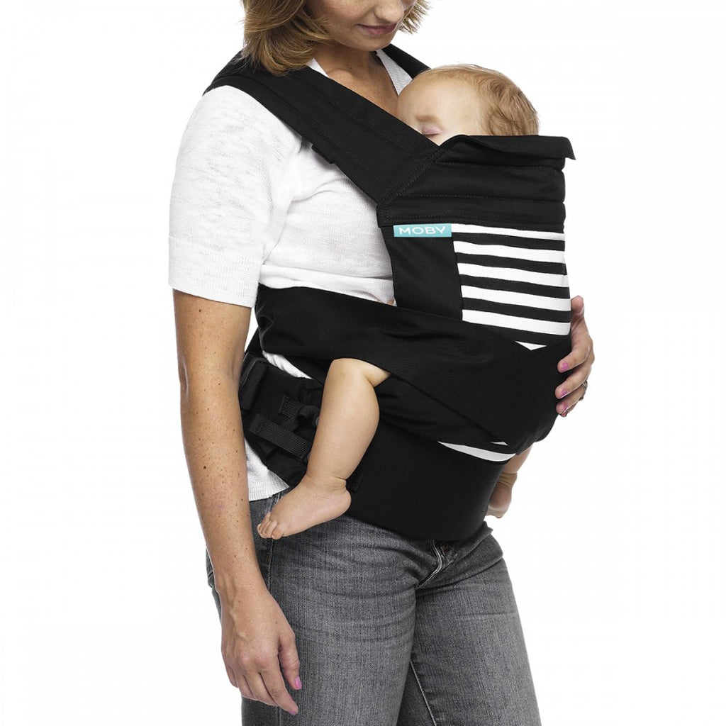 Moby Buckle Tie Baby Carrier (Stripes)