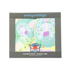 Weegoamigo Mitt Washer + Hooded Towel - Mermaid