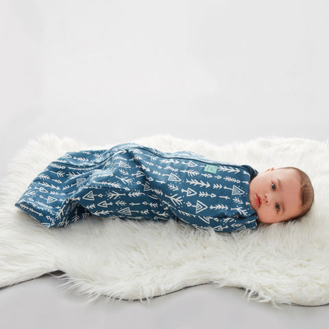 Ergopouch Cocoon Swaddle + Sleeping Bag Midnight Arrows