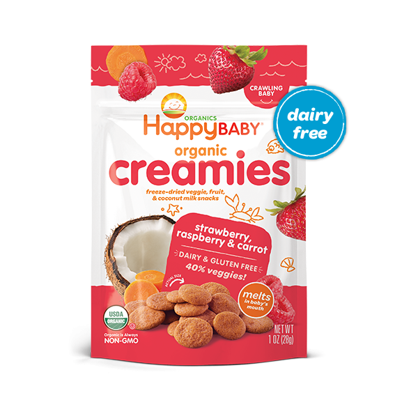 Happy Family Organics Strawberry, Raspberry & Carrot Coconut Creamies