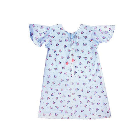 Sea Apple Dainty Swiss Dot Flutter Cheongsam