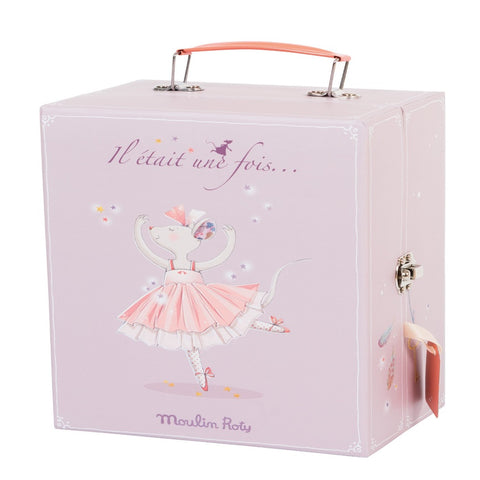 Moulin Roty Ballerina mouse suitcase