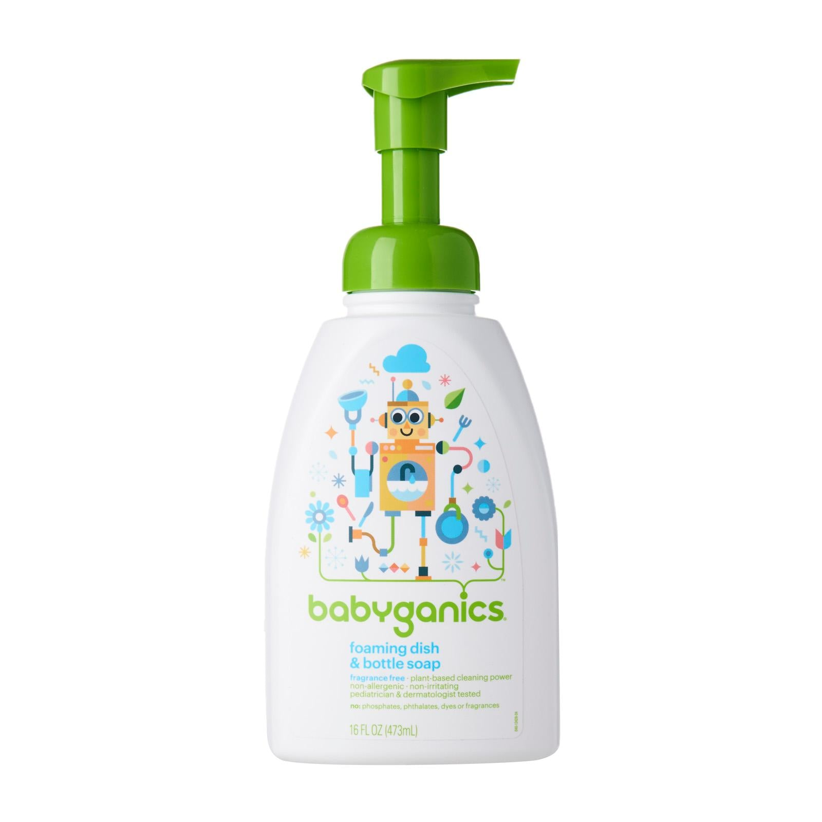 Babyganics Dish & Soap Bottle 16oz